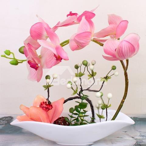 Gorgeous Butterfly Orchid Artificial Flower Sets Artificial Flowers Artificial Flowers And Plants Orchid Flower Arrangements