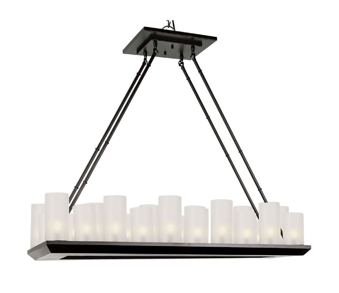 Bel Air Young and Hip 22 Light Rubbed Oil Bronze Chandelier - Modern ...