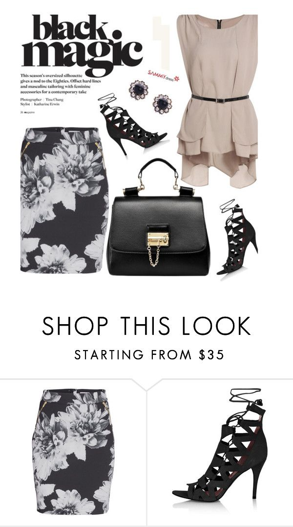 """Sammydress 46/4"" by merima-kopic ❤ liked on Polyvore featuring Meghan Los Angeles, Topshop and sammydress"