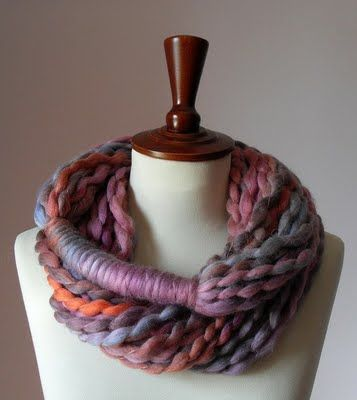 DIY yarn scarf!-but i don't know where to find yarn like this!!