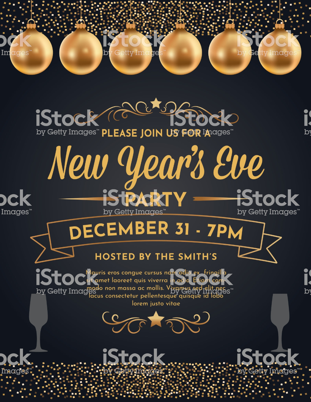 Glittering Gold 2020 New Year S Eve Party Invite Party Invite Template Invitation Template Party Invitations