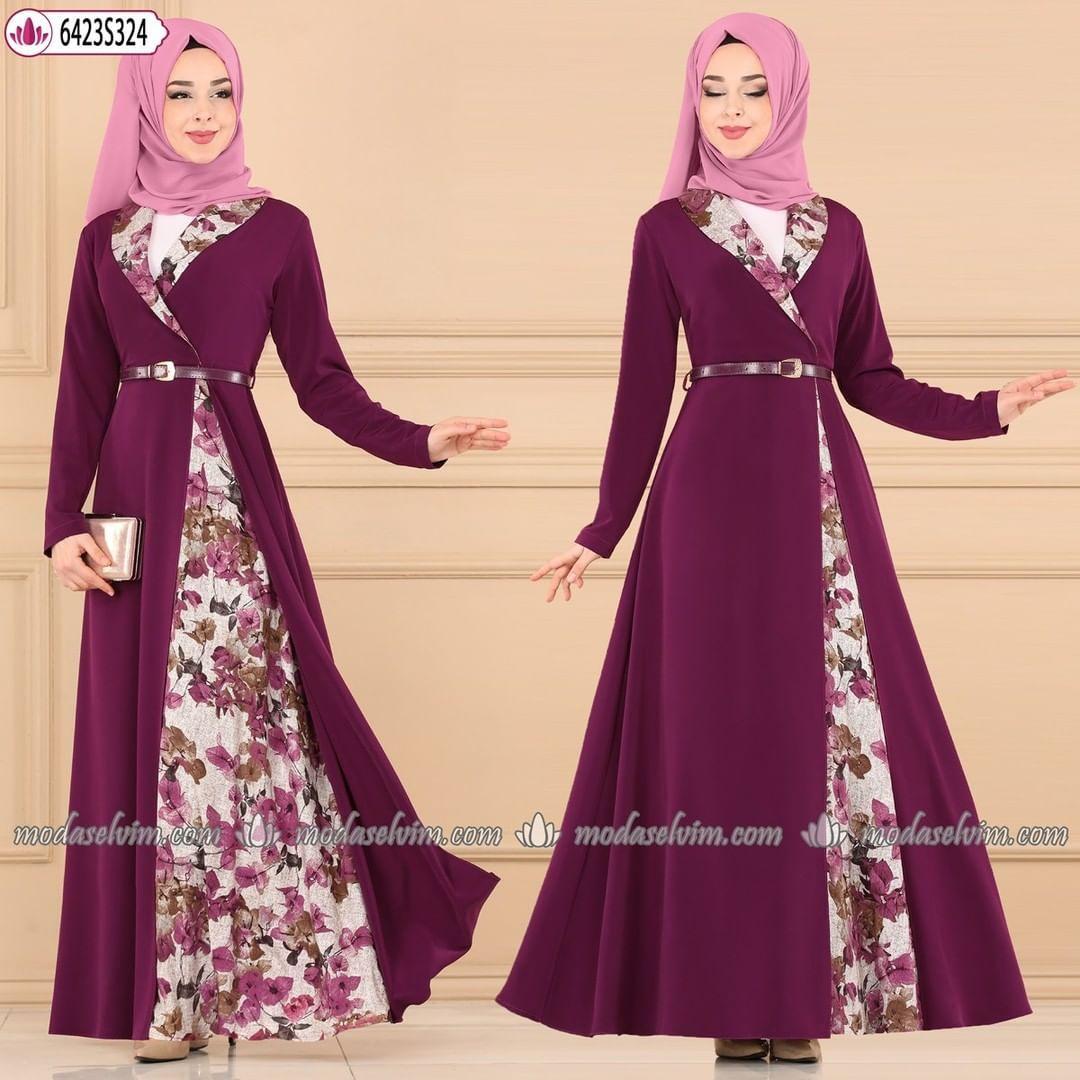 3 059 Likes 17 Comments Modaselvim Modaselvim On Instagram Desenli Tesettur Elbise 149 90 Tl Tam Kalip 38 40 In 2020 Dresses Formal Dresses Long Hijab Dress