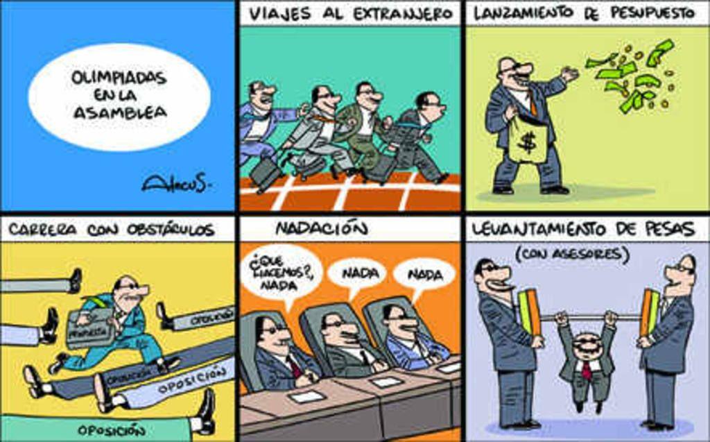 Caricatura Alecus, Olimpiadas en la Asamblea