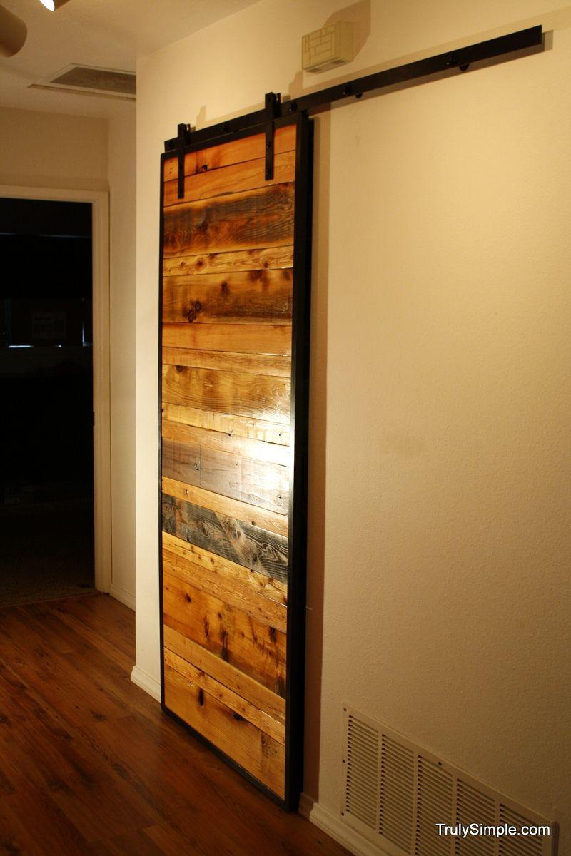 Build Your Own Sliding Barn Door Pallet Possibilities Pinterest