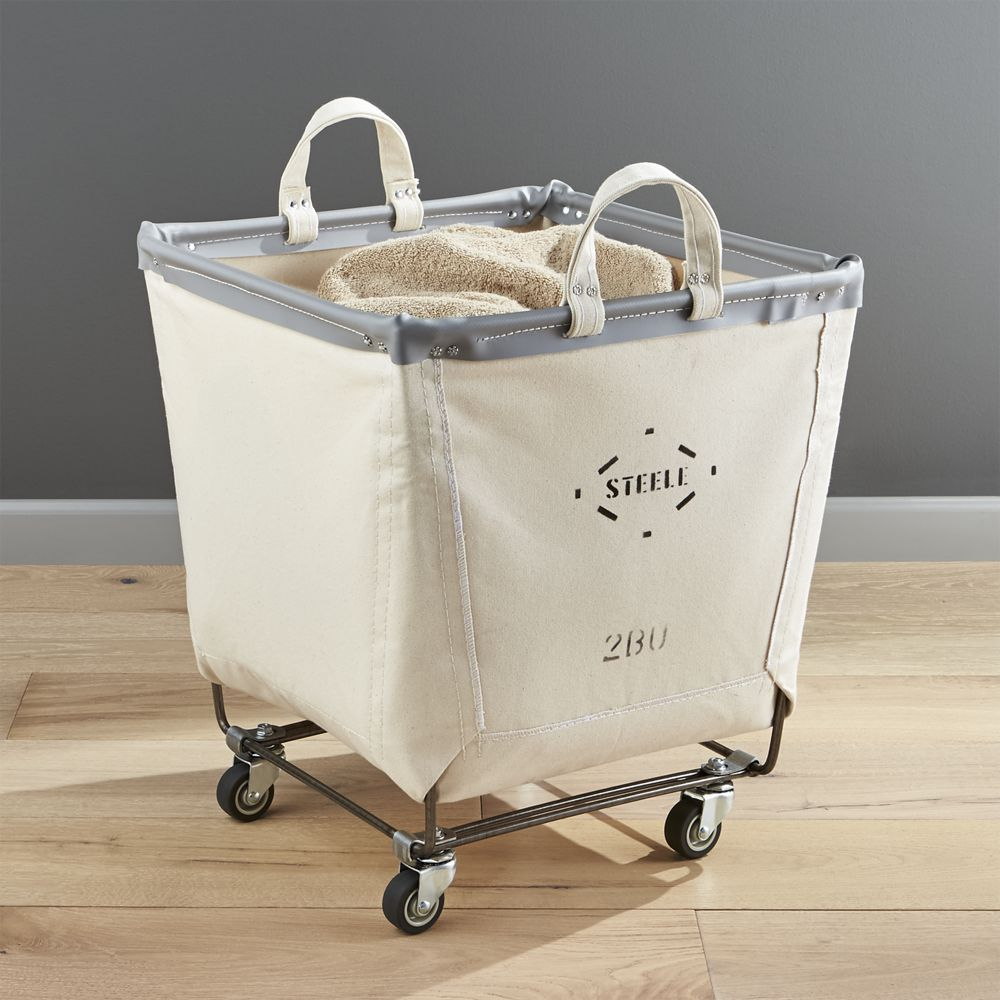 Steele Square Canvas Bin Reviews Crate And Barrel Rolling