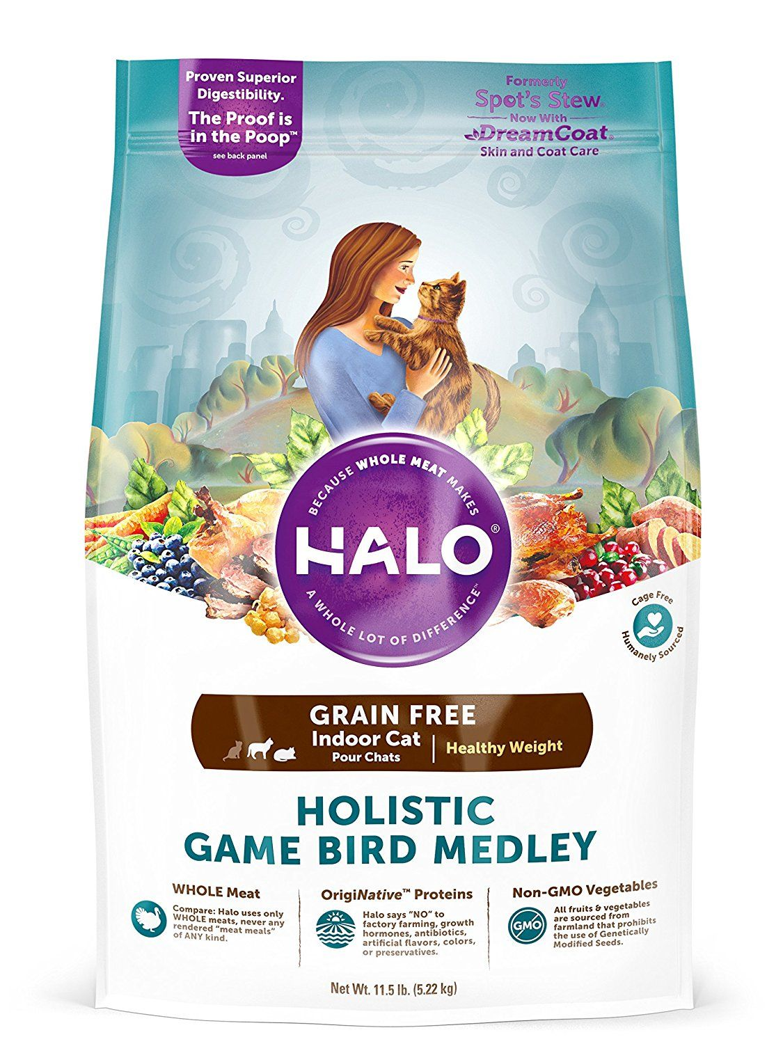 Halo Holistic Healthy Weight Dry Cat Food for Indoor Cats