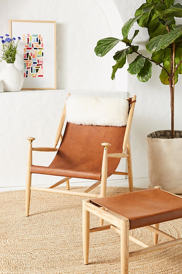 Pleasant Sydney Slingback Chair By Anthropologie In Brown Size All Evergreenethics Interior Chair Design Evergreenethicsorg