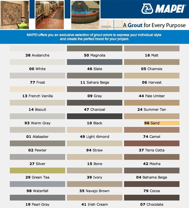 Mapei grout color jpg 655 721 for the home pinterest