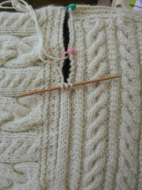 Knitting Casting On Stitches : Joining blanket square cast on three stitches dpn slip
