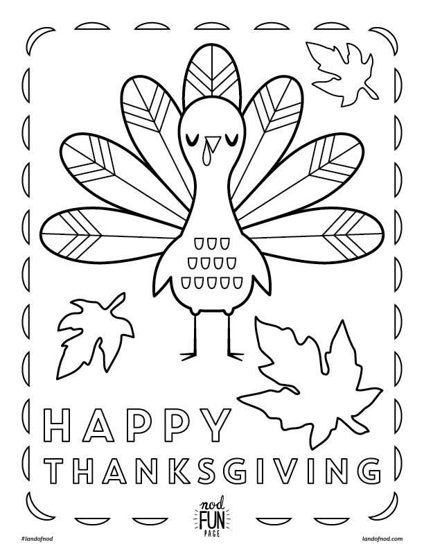 Kids Thanksgiving Themed Free Printable Coloring Page Holidays