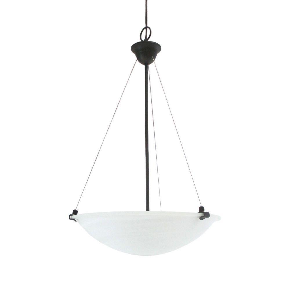 epiphany lighting 102146 orb three light pendant chandelier in oil