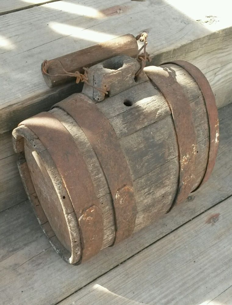 Revolutionary War to Early 19th Century Wood Canteen Small Wooden Keg or Cask | eBay