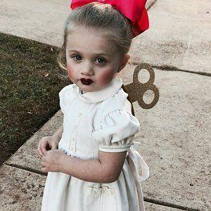 Χειροποίητη αποκριάτικη στολή για μωρό κορίτσι κουρδιστή κούκλα