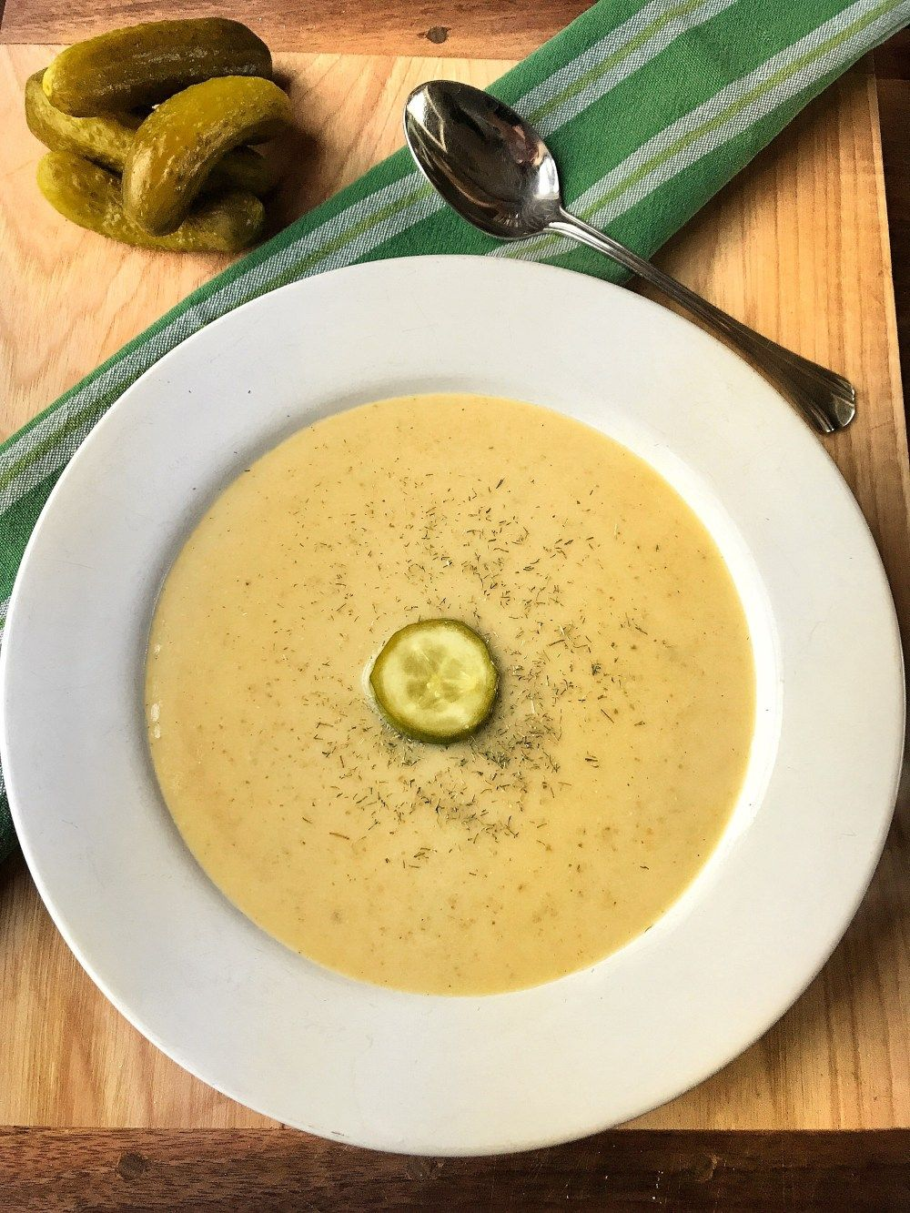 Dill Pickle Soup ~ Polish Recipes - The Tipsy Housewife