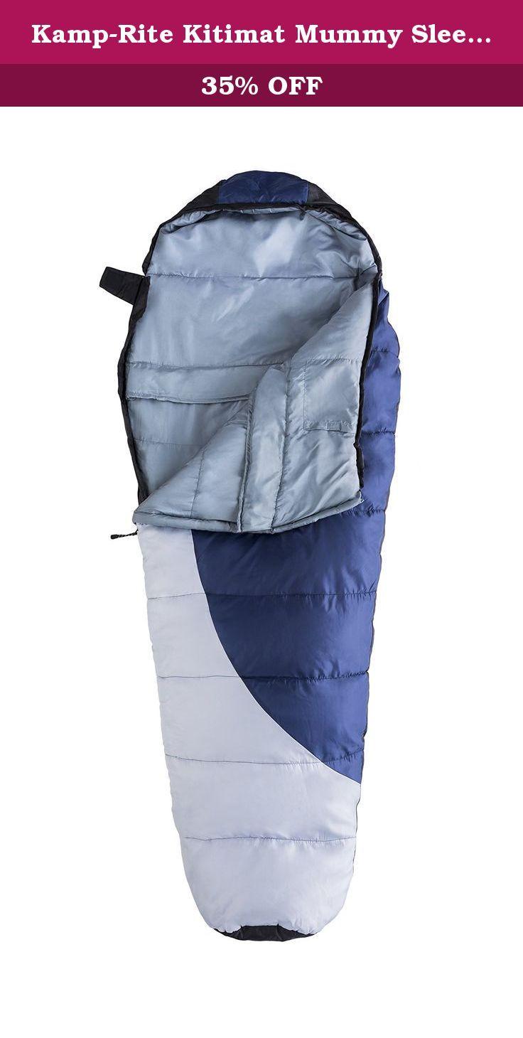 Kamp-Rite Kitimat Mummy Sleeping Bag, Blue/Gray  The Kamp