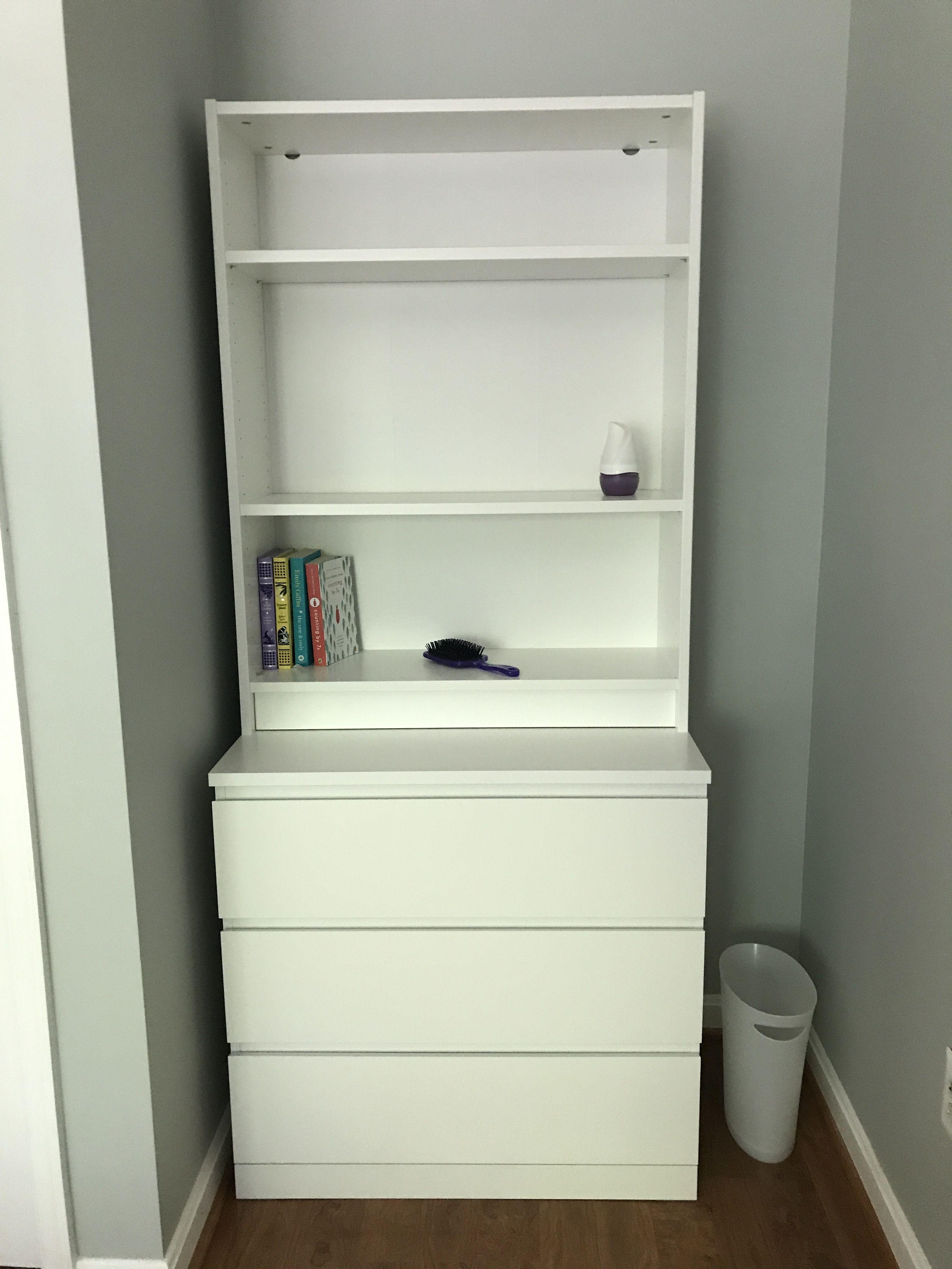 Ikea Malm Dresser And Billy Bookshelf Malm Dresser Ikea Malm