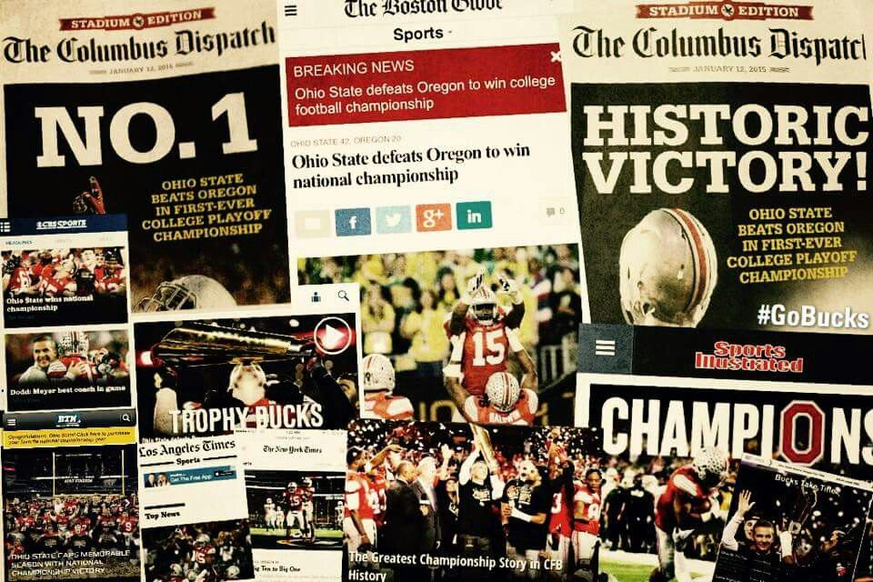 ☆National Championship Headlines 1132014☆ Ohio state