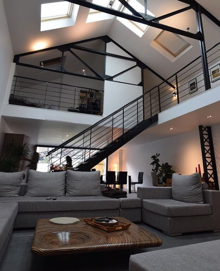 Pin by chen js on interior pinterest interiors house and lofts - The fireman pole apartment an incendiary design ...