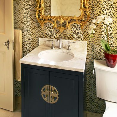Powder Room Animal Print Pillows Design Pictures Remodel Decor And Ideas