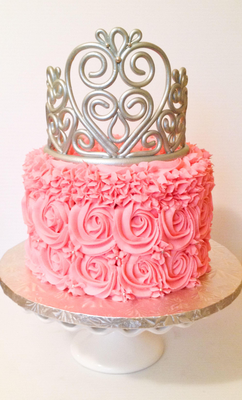 Gumpaste Tiara Princess Cake