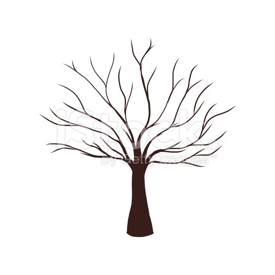 Dead Tree Without Leaves Vector Illustration Sketched Eps
