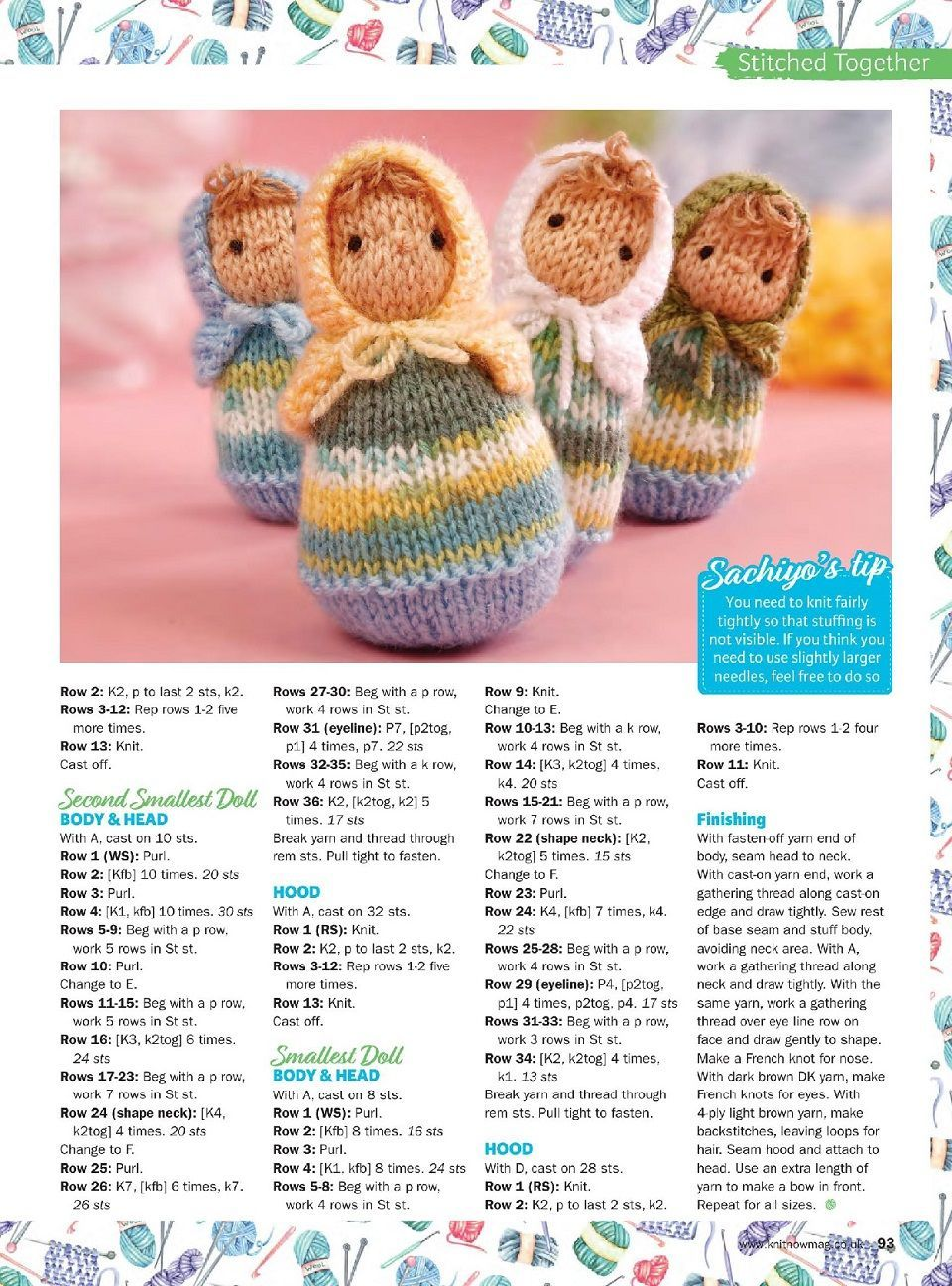 527508c08 Free pattern for tiny dolls. Knit-Now-85-2018-ng  toyskinetted