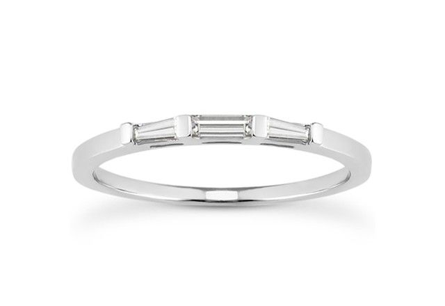 cefd0b04cd6 Tapered Baguette Diamond Wedding Ring Band in 14K White Gold - Richard  Cannon Jewelry ( 675 for platinum