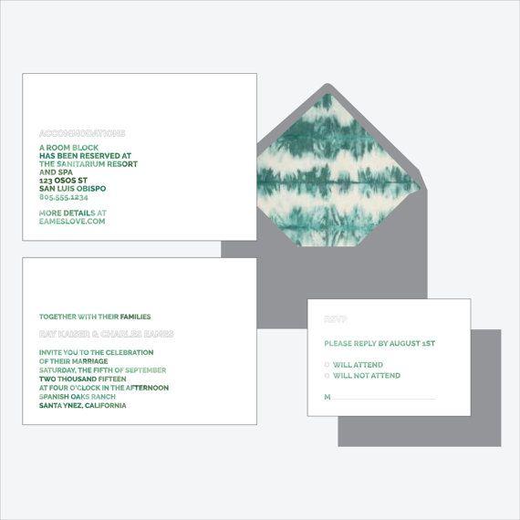 Art Letters   Modern, minimal wedding invitation suite, artistic