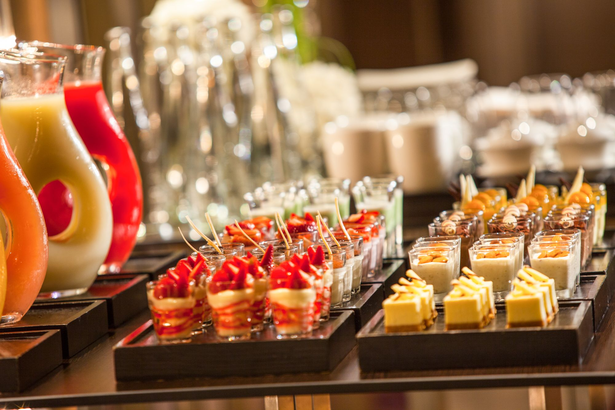 Keep attendees energized with bite sized snacks during