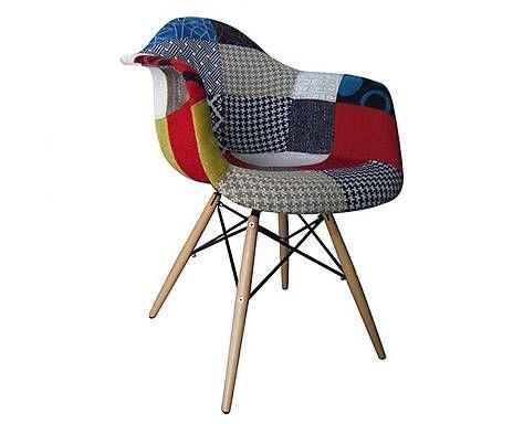 Cadeira finella wood patchwork