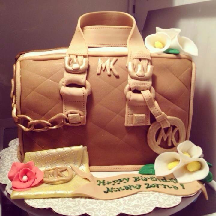 Mk Purse Birthday Cake Purses And Shoe Cakes Pinterest