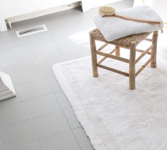 tutoriel avec photo de sol en carrelage de salle de bain repeint ...