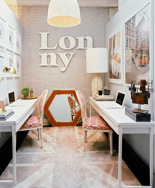 Mid Century Modern Makeup Room