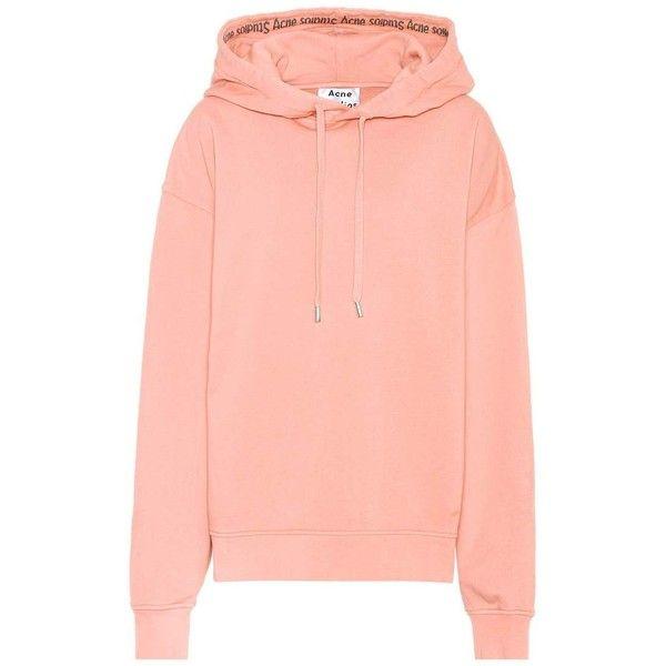 Acne Studios Ferris Face oversized cotton hoodie | Mytheresa