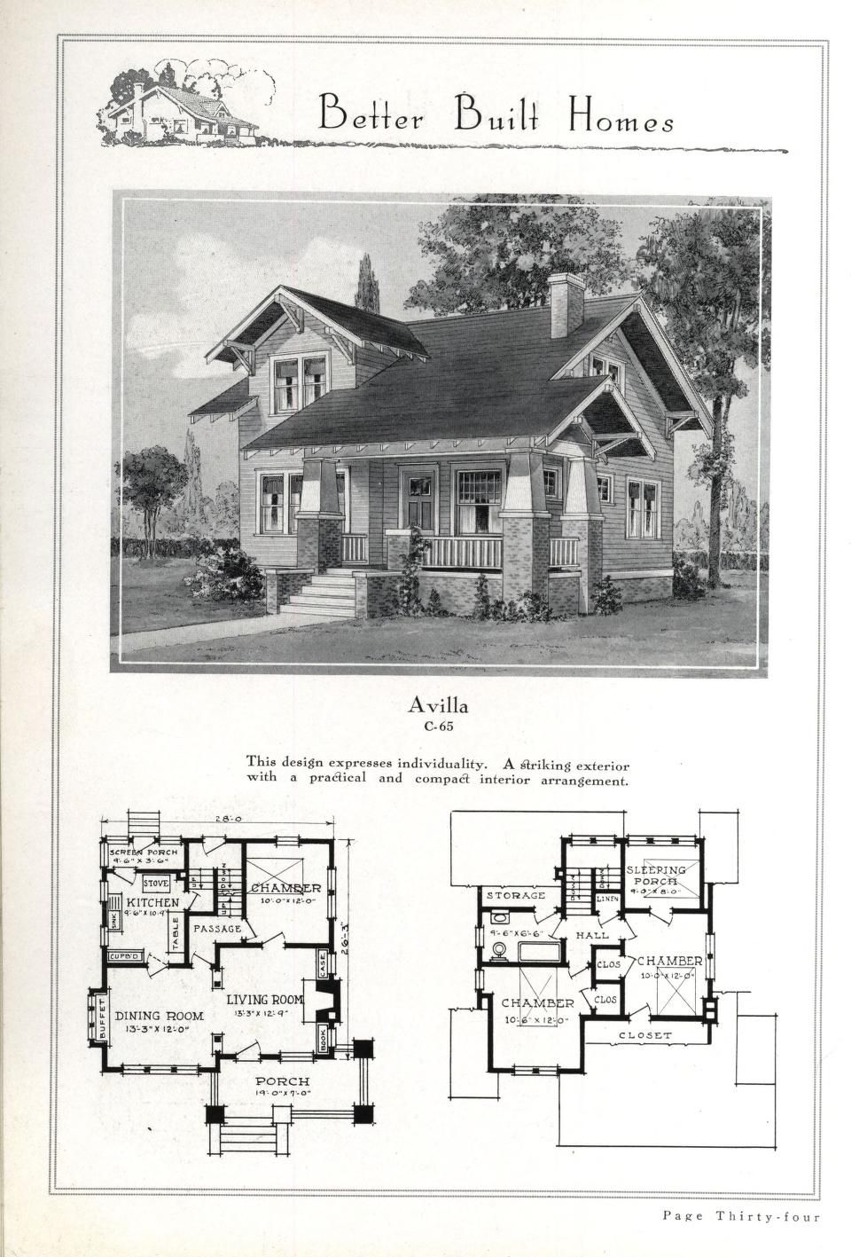 Better Built Homes Vol 1 Small House Plans Vintage House Plans House Floor Plans