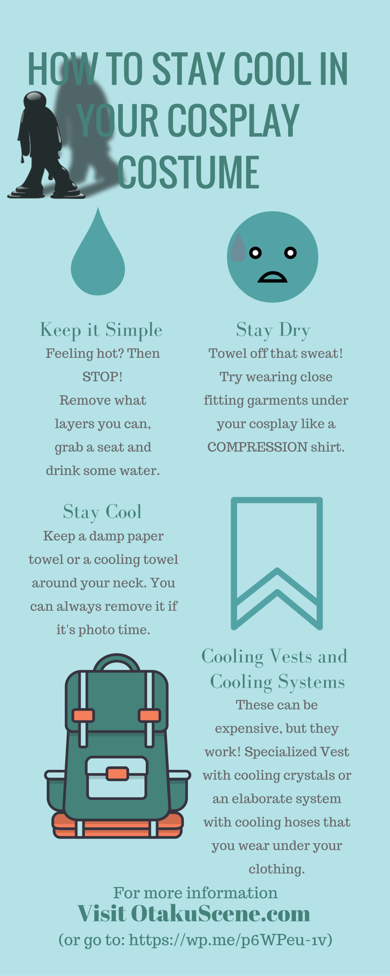 Tips for beating the heat while in your cosplay costume
