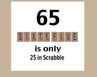 65th Birthday Card Milestone The Big 65 Funny Humorous Scrabble