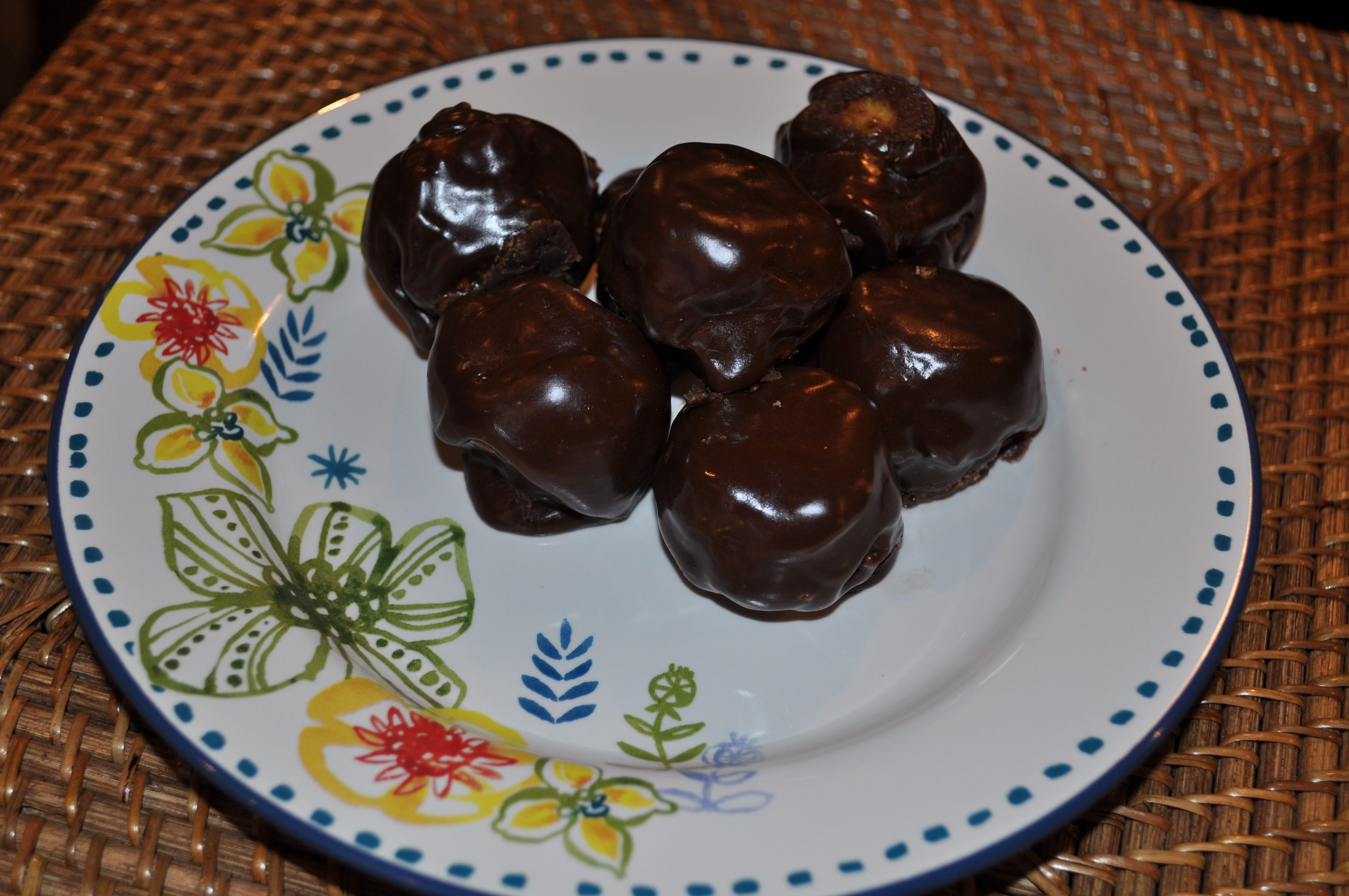 Guilt free chocolate covered pumpkin donuts food