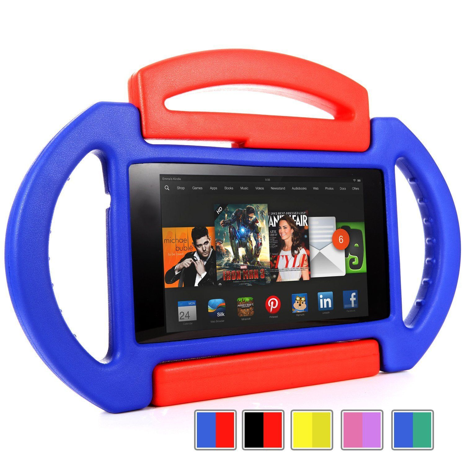 2f3661a90dc0 Poetic Kid Series Case for New Kindle Fire HDX 7 inch (2013) Tablet Blue/Red