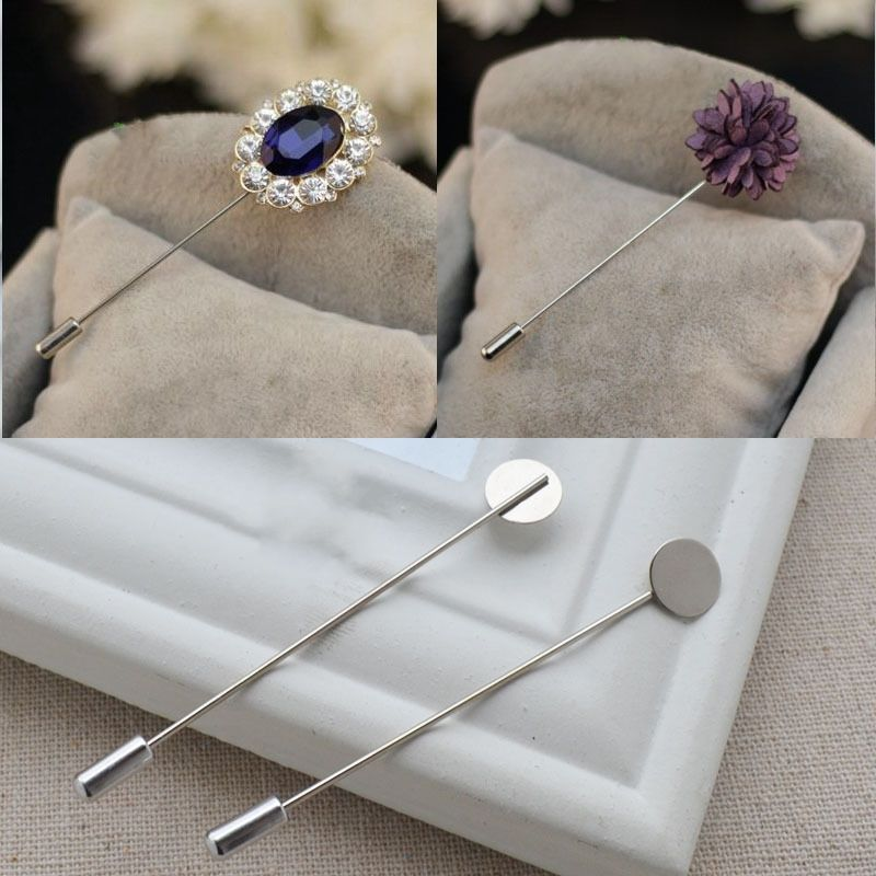 perfektchoice 10pcs Men Women Lapel Pin Stick Suit Shirt Brooch Jewellery