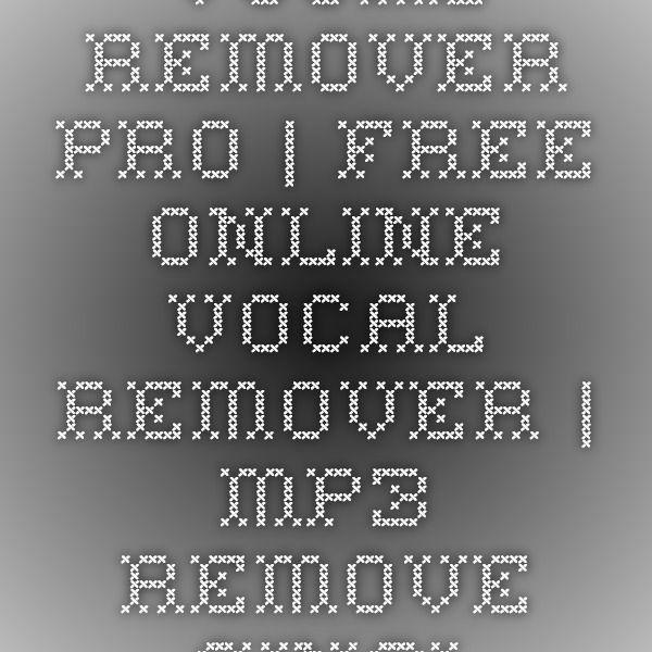 vocal remover online