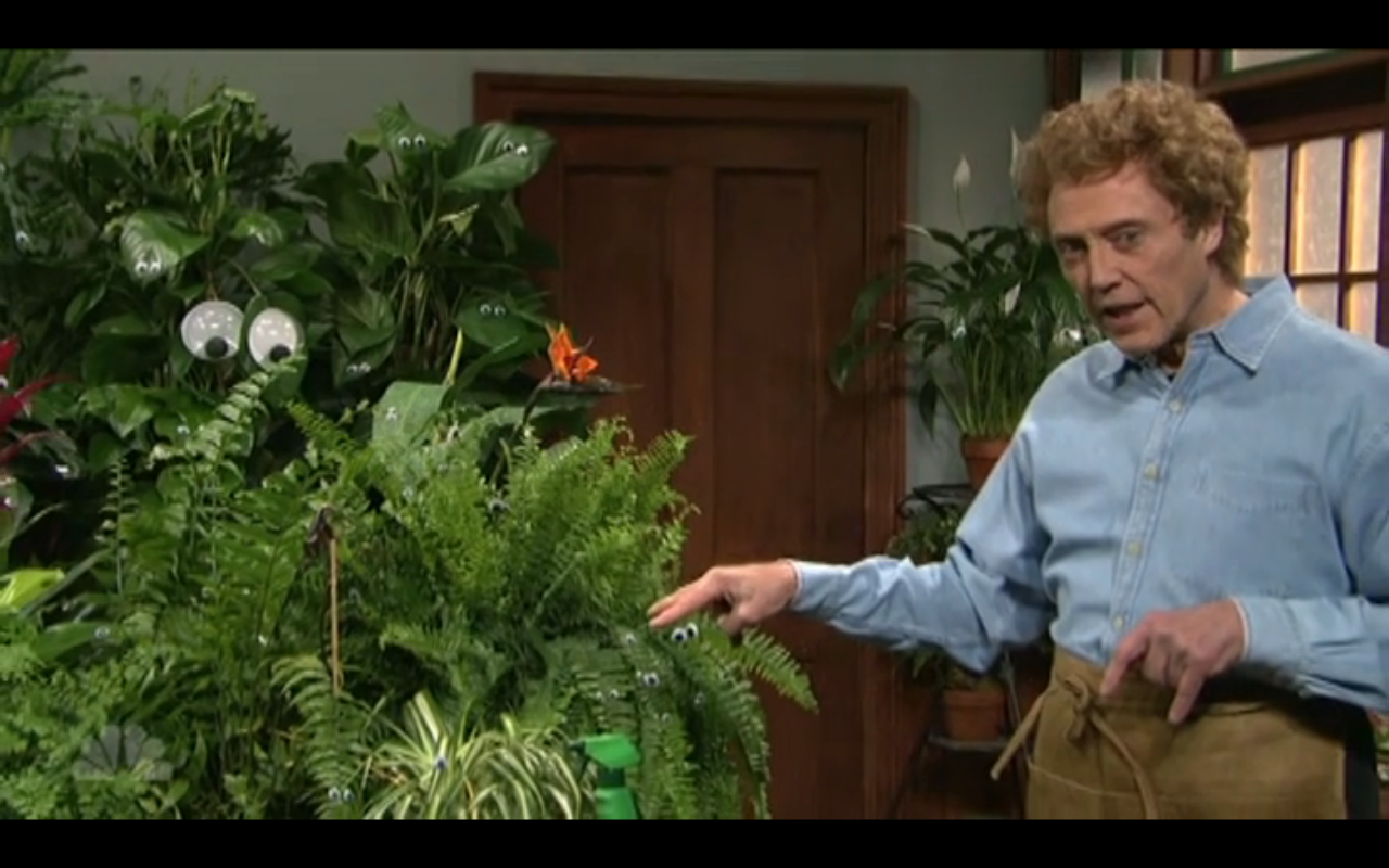 Snl christopher walken plants