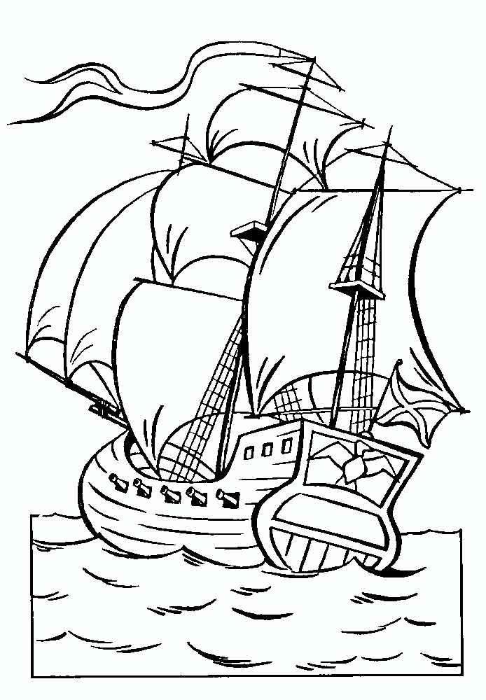 Раскраски раскраски по сказке царе салтане корабль, море ...