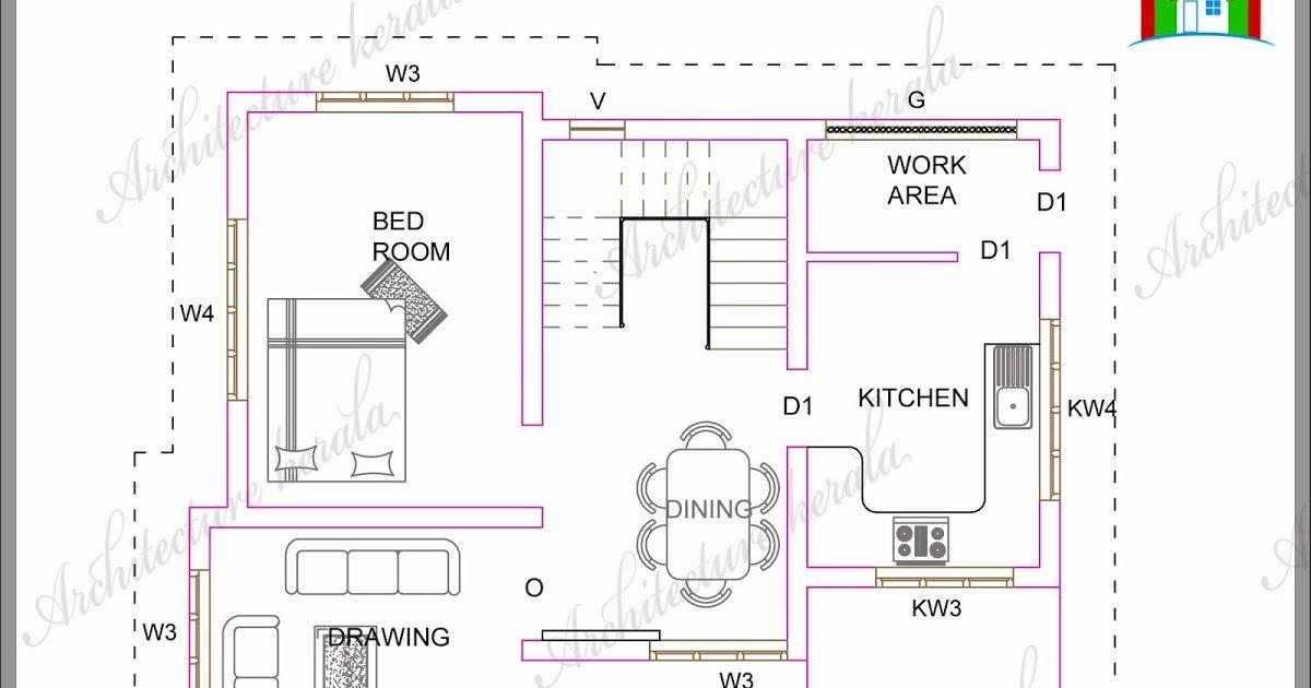 1300 Square Feet Plan 3 Bedroom Kerala Style House Plan House Plan For Low Budget Kerala Style House Plan For Duplex House Plans House Plans Budget House Plans