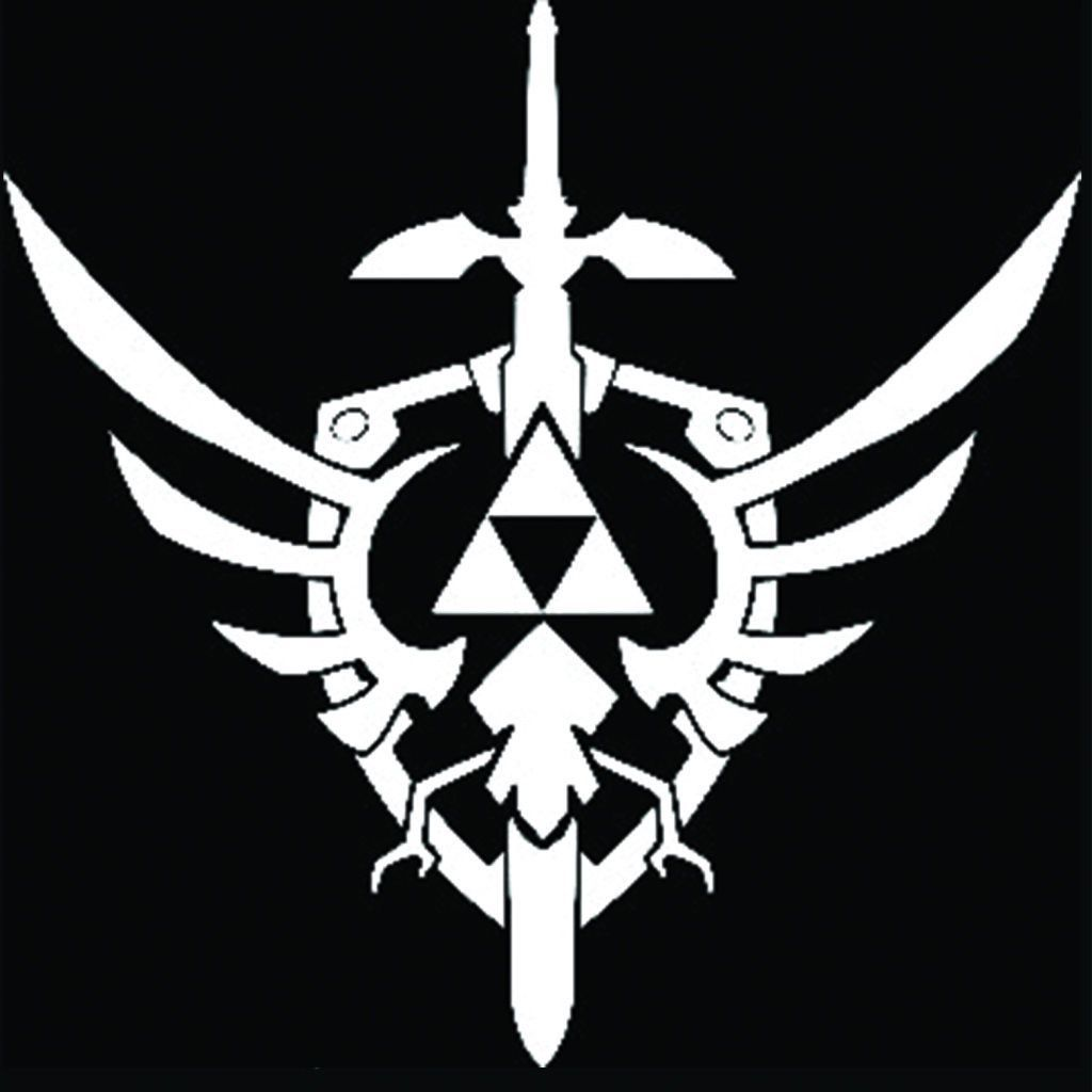 Zelda Triforce with Sword Decal Sticker 5.5Inches
