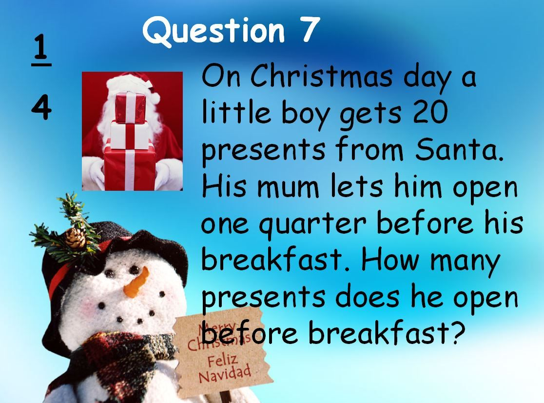 A Christmas quiz packed with seasonal sums | Maths | Pinterest ...