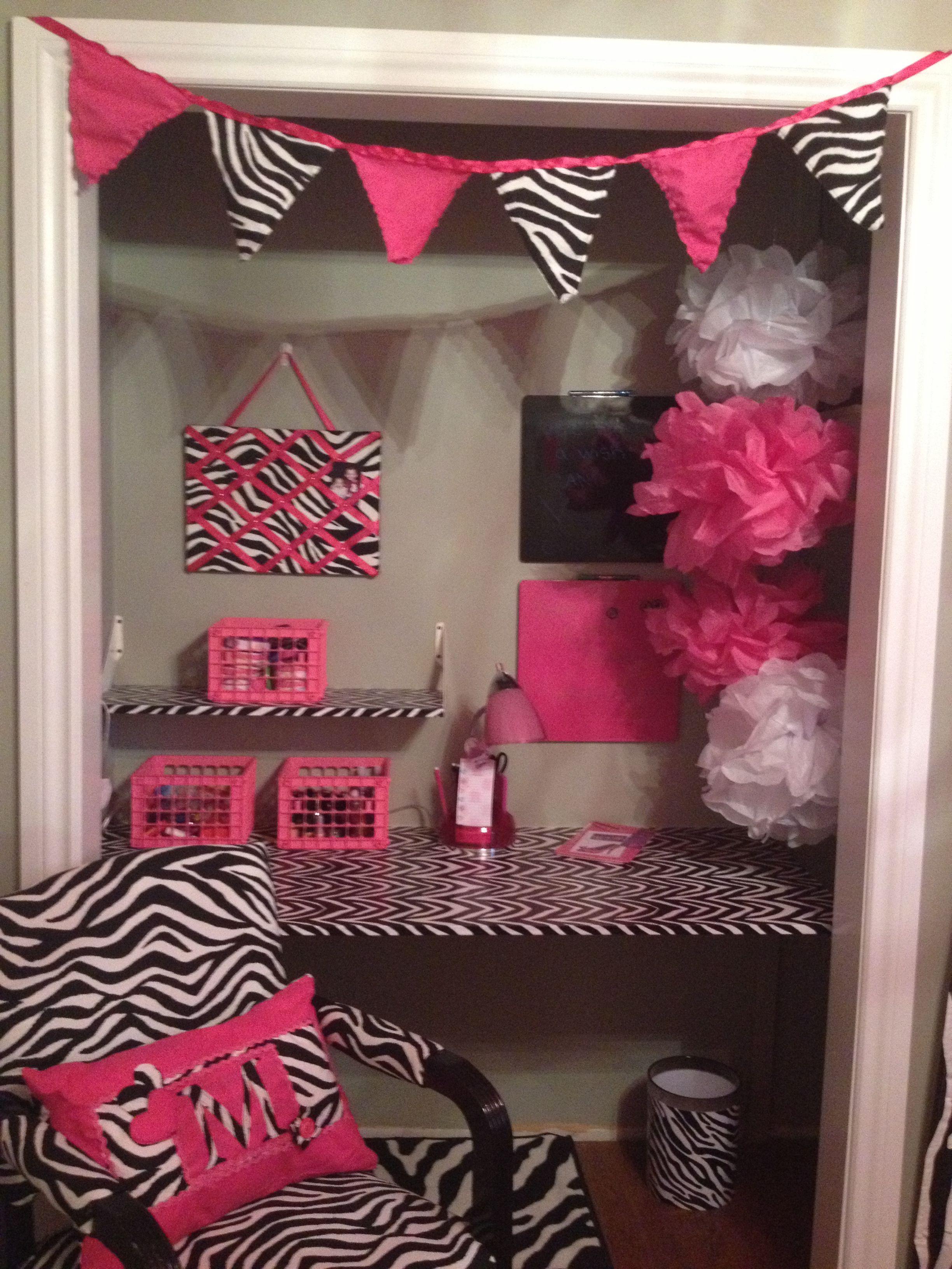 Pink Zebra Print Bedroom Girly