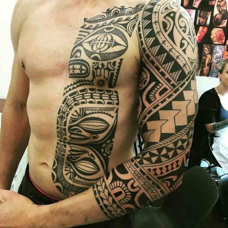 originales tatus con tribales #hawaiiantattoossleeve
