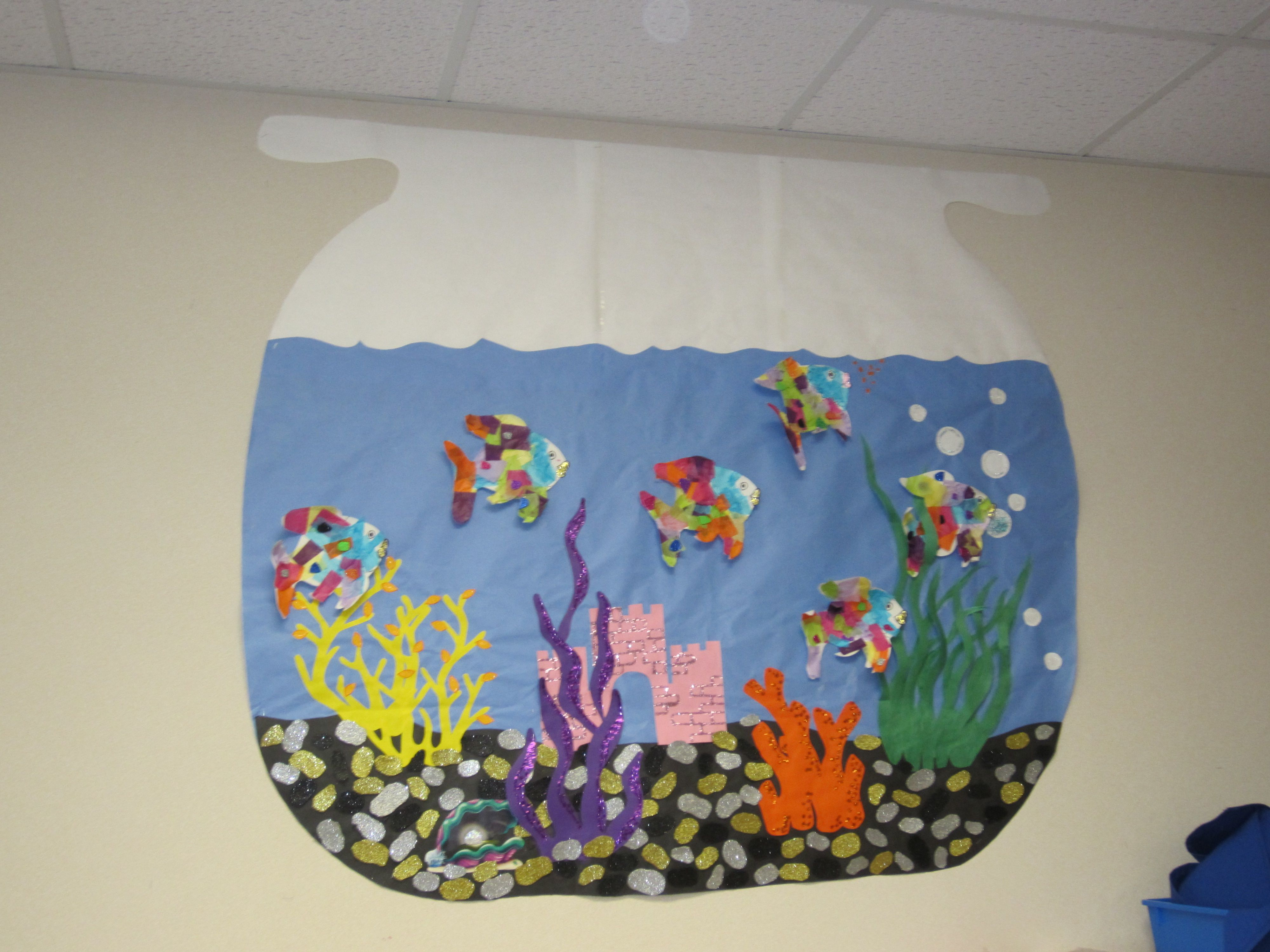 My ias are amazing they made a fish bowl bulletin board for Fish bulletin board