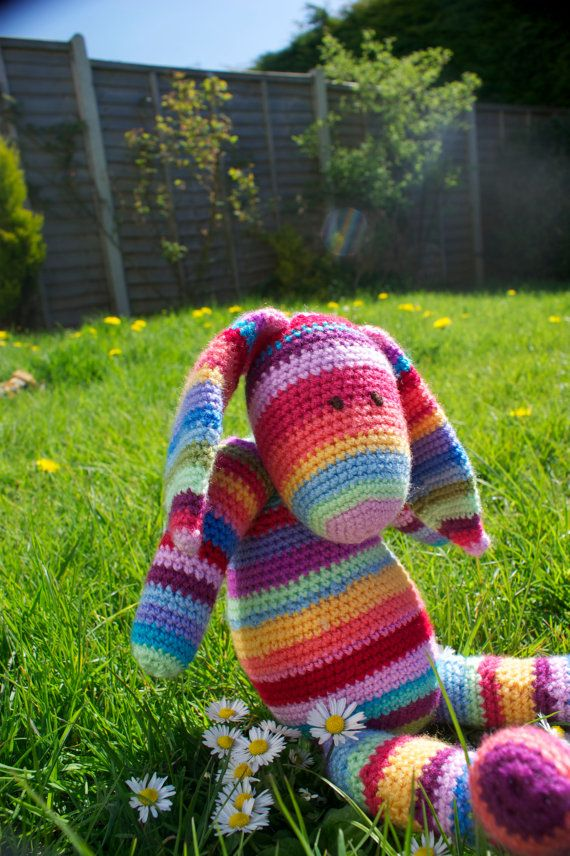 Crochet Amigurumi Rabbit // 'Rabbity' // PATTERN by ZincCreations, £4.25
